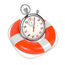 Free StopWatch  In Lifebuoy On White Background. Royalty Free Stock Image - 28249096