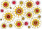 Free Modern Floral Petalled  Abstract Design On White Background Stock Photography - 28242782
