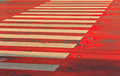 Free Crosswalk White On A Red Background Royalty Free Stock Photography - 28250837