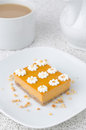Free Pumpkin Cake, Decorated With Flowers Made Of Whipped Cream And N Stock Photos - 28252863