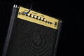 Free A Small Guitar Amplifier On Black Background Stock Photography - 28255832