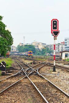 Free Railway In Thailand Royalty Free Stock Photos - 28250768