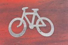 Free Bicycle Sign Royalty Free Stock Photo - 28250815