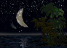 Free Night Above The Pacific Ocean Royalty Free Stock Photos - 28251868