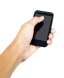 Free Touch Screen Mobile Phone, In Hand Royalty Free Stock Images - 28254269