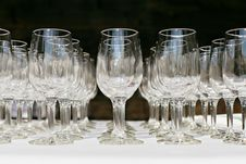 Free Empty Wine Glasses Stock Photos - 28254303