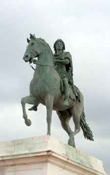 Monument To Louis XIV, Lyon, France Stock Image