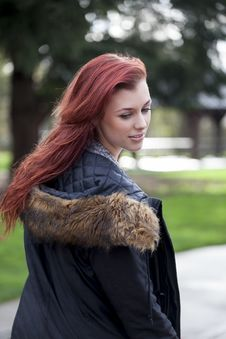 Free Young Woman With Beautiful Auburn Hair Royalty Free Stock Photos - 28258798