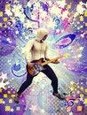Free Funky Guitarist Stock Image - 28260391