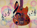 Free Funky Music Background With Guitar Stock Photography - 28260392