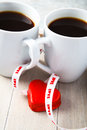 Free Valentine Coffee Cups With Heart Royalty Free Stock Photos - 28262878