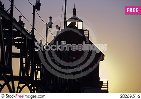 Free Lighthouse At Grand Haven, Michigan Royalty Free Stock Image - 28269516
