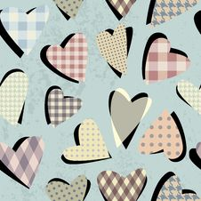 Free Hearts Pattern Royalty Free Stock Images - 28261159