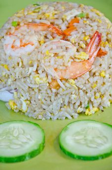 Free Fried Rice With Shrimp. Stock Photos - 28268283