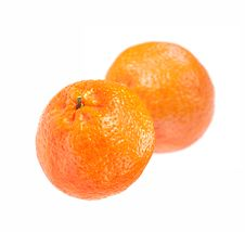 Free Two Tangerine Royalty Free Stock Photo - 28268585