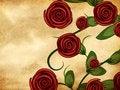 Free Roses On Grunge Paper Royalty Free Stock Image - 28276746