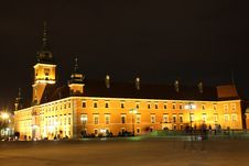 Free Royal Castle At Night. Warsaw. Poland Stock Images - 28270884