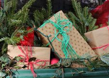 Free Simply Wrapped Holiday Gifts Royalty Free Stock Photos - 28274748