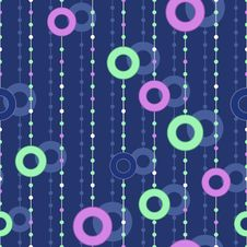 Seamless Pattern With Colorful Circles On Thread Royalty Free Stock Photo
