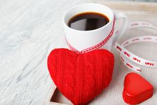 Free Romantic Morning Valentine Greetings Royalty Free Stock Images - 28278099