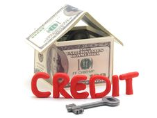 Real Estate On Credit Royalty Free Stock Images