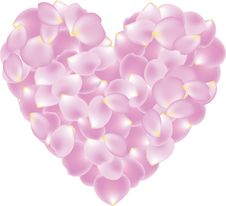 Free Petal Shaped Heart Royalty Free Stock Image - 28279686