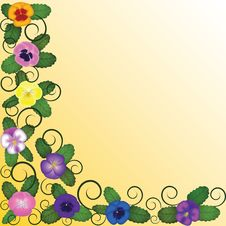 Free Background With Pansies Stock Images - 28279704