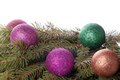 Free Colored Balls Are On The Fir Trees Stock Photography - 28282492