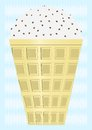 Free Waffle Cup With Ice Cream. Stock Image - 28282811
