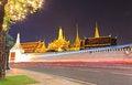 Free Wat Phra Kaew At Night And Street Royalty Free Stock Photography - 28284887