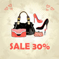 Free Different Bags And Shoes Royalty Free Stock Images - 28285619