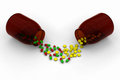 Free Red Green Capsules Vs Yellow Pills Royalty Free Stock Images - 28286109