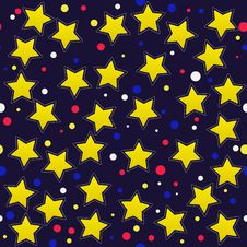 Free Seamless Pattern With Cartoon Stars Royalty Free Stock Image - 28284136