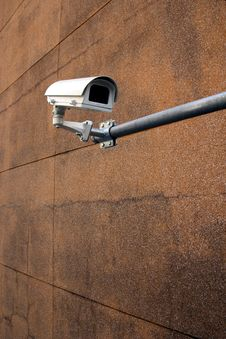 Free White Security Camera Or CCTV Stock Photo - 28286270