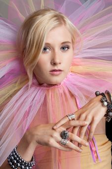 Free Teen Girl With Colorful Tutu Stock Images - 28287304