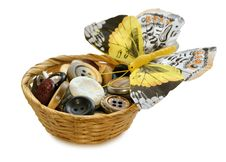 Free Buttons And Butterfly Stock Photography - 28289142