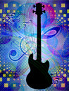 Free Funky Music Background With Guitar Royalty Free Stock Photography - 28290267