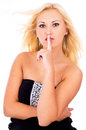 Free Beautiful Girl Shows Sign Stock Photo - 28292050