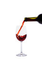 Free Red Wine Pouring Into Wine Glass Royalty Free Stock Image - 28295206