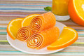 Free Candy Fruit On A Plate With Orange Royalty Free Stock Photos - 28296318
