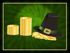 Free Hat And Coins Background Royalty Free Stock Images - 28290299