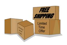 Free Shipping Boxes Stock Image