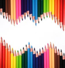 Color Pencils On White Royalty Free Stock Photography