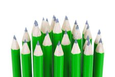 Free Green Pencils Royalty Free Stock Image - 28290936