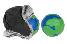 Free Winter Hat And Two Plasticine Hemisphere Stock Image - 28290951