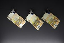 Free Hanging Euro Stock Photography - 28292322