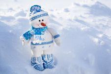 Free Toy Snowman. Royalty Free Stock Photos - 28293698