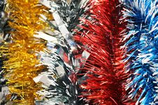 New Year S Tinsel. Background Royalty Free Stock Photo