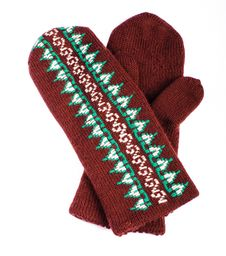 Brown Mittens Royalty Free Stock Image