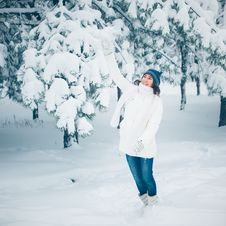 Free Winter Girl Royalty Free Stock Image - 28295256